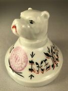 Vintage Advertising Paperweight With Bulldog For Murphy Varnishes, Porcelain