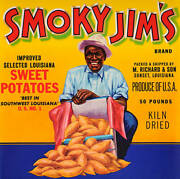 Old Photo Vintage Advertisement For Smoky Jims Sweet Potatoes