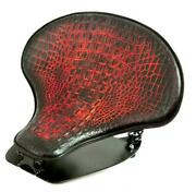 2015-2021 Indian Scout And Bobber Spring Tractor Seat Antique Red Alligator Kit Bc