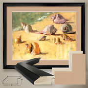 40wx32h From The Sea I By Dale Payson - Shell - Double Matte Glass And Frame
