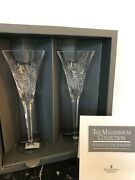Nib Waterford Crystal The Millennium Collection A Toast Year 2000 Flutes-health