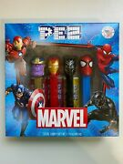 Very Rare Marvel Pez Mispackaged Set Of 4 With Thanos Instead Of Captain America