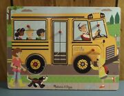 Melissa And Doug- Wheels On The Bus- Sound/musical Puzzle- Wooden