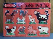 Melissa And Doug-farm Animals- 8 Piece-wooden Puzzle- W/ Sound Effects