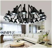 Multicolor Spider Pendant Light Led Home Lamp Carbon Steel Remote Control Switch