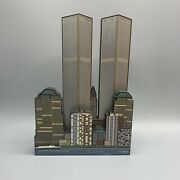 Sheilas World Trade Center 2001 Remembrance Heart Of The City Tabletop Decor Nyc