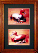 Red Head Duck Decoys/ducks Unlimited/carved Wooden Decoy Photo Hunting Divers
