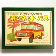 Tin Toy 20th Century Museum Assembly Tinplate Bonnet Bus Made In Japan Vintage