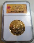 2004 Canada 50 1 Oz. Gold Maple Leaf 25th Anniversary Ngc Ms69 Fs - Rcm