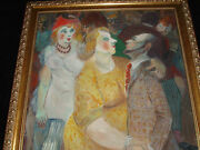 Original Oil Painting From The 1960's By Murray Belkin Depicting Arnold Belkin