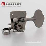 New Gotoh Fb30 4 Inline Clover Leaf Bass Tuners Vintage Fender Style Cosmo Black