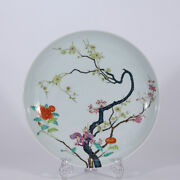 11.8 Old Chinese Yongzheng Marked Famille Rose Porcelain Painting Flower Plate