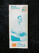 Vintage 1966 Miami Dolphins Media Guide Inaugural First Season 1112