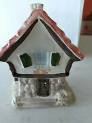 Vintage 1960s Goebel Cottage Coin Bank With Key...west Germany...great Condition