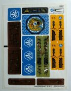 Lego Legends Of Chima Sticker Sheet For Set 70010 New The Lion Chi Temple