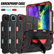 For Ipad Pro 11inch 2nd Gen 2020 Case Shockproof Armor Stand Cover Pencil Holder