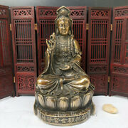 9.2 China Antique Qianlong Year System Pure Copper Willow Branch Guanyin Statue