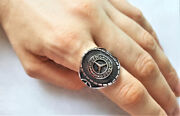 Eliz 925 Sterling Silver Mercedes Benz Car Menand39s Ring Exclusive Design Perfe