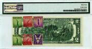 2 Dollars 1976 Stamp Cancel Service To The Nation Win The War Eagle Value 3000