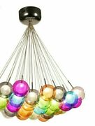 Colorful Pendant Lights Glass Ball Lamp Led Modern Suitable For Living Room Area