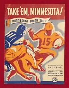 Antique 1938 Univ Of Minnesota Football Themed Sheet Music Early Vintage Gophers