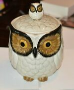 Vtg Double Two 2 Owl With Baby Cookie Jar Omc Otagiri Japan 10 Ceramic Pottery