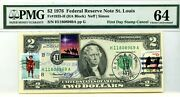 2 Dollars 1976 First Day Stamp Cancel Celebrate Christmas Lucky Money 3000