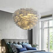 Feather Pendant Lights Led Soft Fur Affinity Lighting Eye Protection Effects New