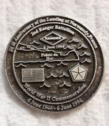 Authentic 2nd Ranger Bn 75th Regt Normandy 50th 1944-1994 Rare Challenge Coin