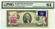 2 Dollars 1976 First Day Stamp Cancel New York Lucky Money Value 3000