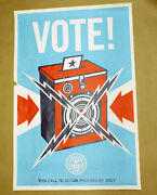 Obey 24x36 2008 Paster Poster Shepard Fairey Vote-rare Street Art