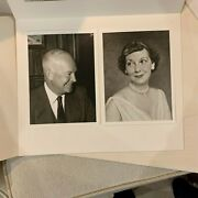 1956 Dwight And Mamie Eisenhower White House Christmas Gift Print And Envelope Mint