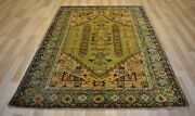 Clearance 1910and039s Antique Turkish Kula Geometric Handmade Rug 7and039x9and039 Free Shipping