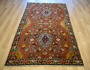 Clearance 1940and039s Caucasian Karabagh Rug Signed Name 5ft X 8ft Free Shipping