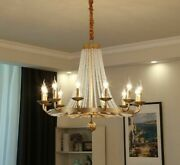 Vintage Candle Chandeliers Lights Led Industrial Ceiling Lamp Crystal Clear Ball