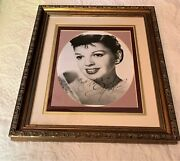 Judy Garland Wizard Of Oz Fame Vintage Signed Autographed Framed Photo Rare Coa