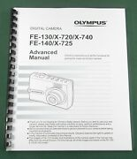 Olympus Fe-130/fe-140 Advanced Instruction Manual 80 Pages And Protective Covers