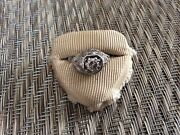 Antique 14k Diamond Ring With Great Detail Workmanship