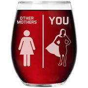 Mother Wine Glass Stemless Cup Funny Gift For Birthday Best Present Day K-50d