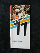Vintage 1977 Miami Dolphins Press Media Guide W/bob Griese Cover 1334