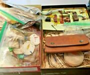 Huge Lot Vintage Fly Fishing Tying Materials Feathers ,hair, Thread And More