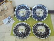 Nos Vintage Lyon Accessory Hubcaps 15 Set 4 Wheel Covers 1950and039s 1960and039s Hot Rod