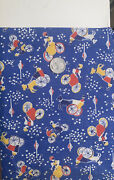 Vtg.30s 40s Cotton Childrenand039s Juvenile Novelty Fabric- 35.5andrdquowide X 14andrdquol
