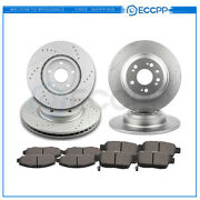 Ceramic Brake Pads And Rotors Front Rear For 2009 2010 2011 2012-2014 Acura Tl