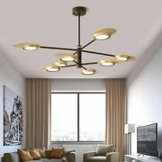 Adjustable Chandelier Led Lights Fixture Aluminum Lampshade With Durable Arm New