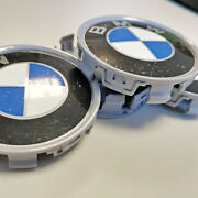 4x Old Retro Bmw Wheel Center Caps Wheel Emblems 68mm Out / 65mm In. Custom Made
