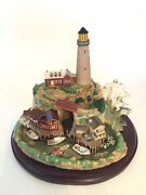 2003 Lenox Lighthouse Collection Light At Lobster Point Ogunquit Maine