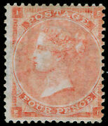 Sg80 Scarce 4d Pale Red Plate 3 Lh Mint. Cat Andpound2000. Ei