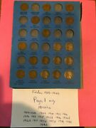 1909 1940 18 Coin Page 1 09vdb 09 12 15 15d 16s Lincoln Penny Set Whitman 9004