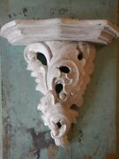 Shabby Hand Made Wood Corbel Floating Shelf White Painted Made In Thailand 13